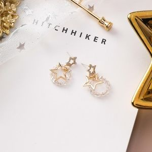 Unique Zone Jewelry - ❤️️NEW MOONLIGHT Crystal Star Handmade Earrings 34